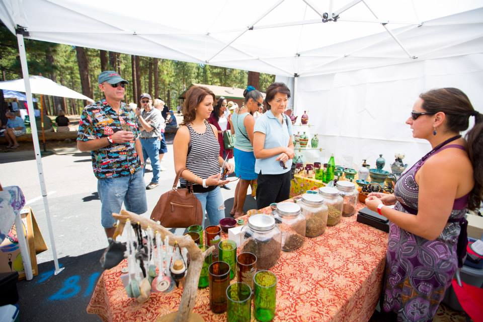 Festival Goers Check Out Local Wares At Sample The Sierra