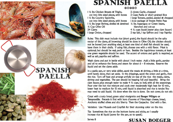 Paella Recipe - Boeger Family