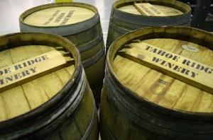 Tahoe Ridge Winery Wine Barrels