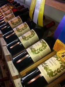 bottles on rack