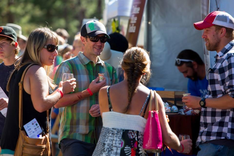 Festival goers enjoy samples