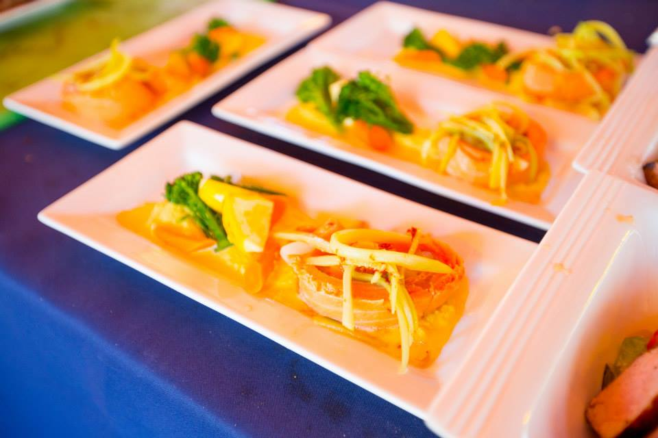 A bright and beautiful dish at Sample the Sierra