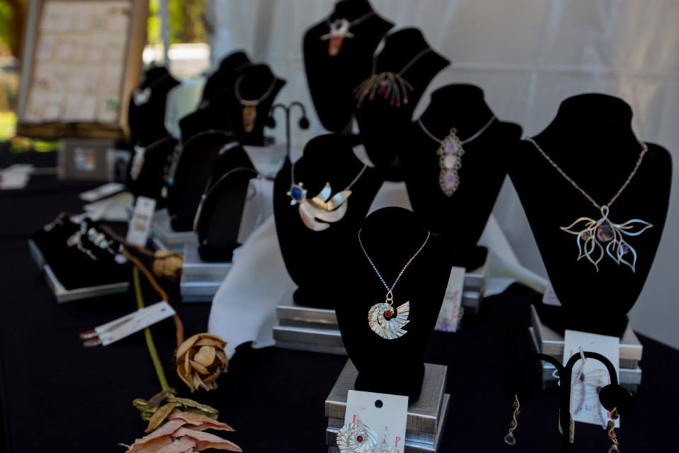 Beautiful handmade necklaces at Sample the Sierra