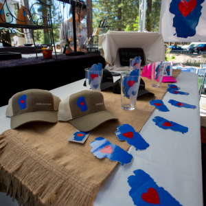 Lovin Lake Tahoe artist at 2014 Sample the Sierra